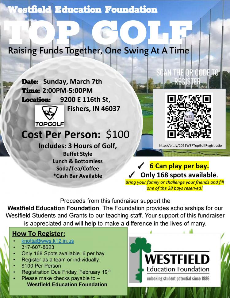 Topgolf Event benefiting Westfield Education Foundation!