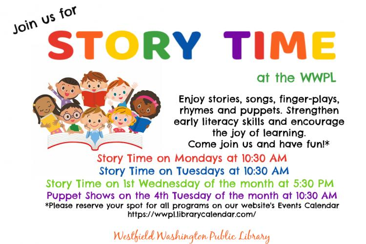 Story Time Monday at Westfield Library