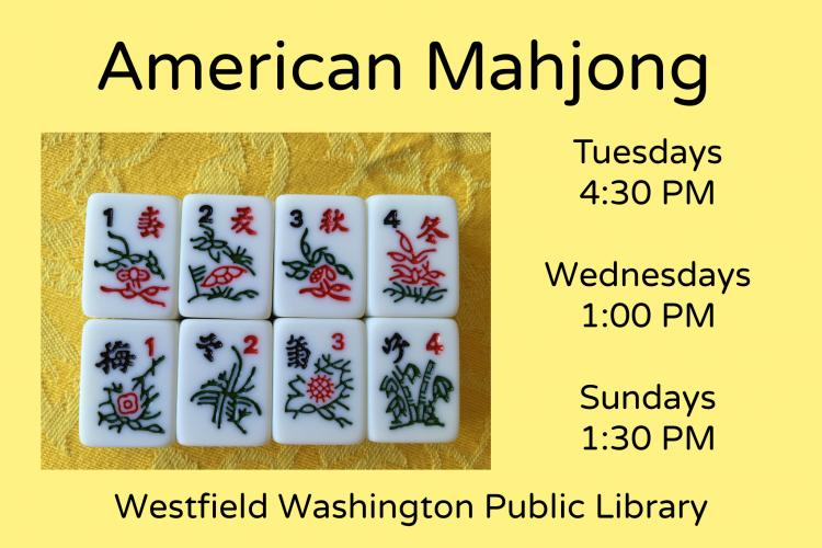 American Mahjong at Westfield Library - New time!