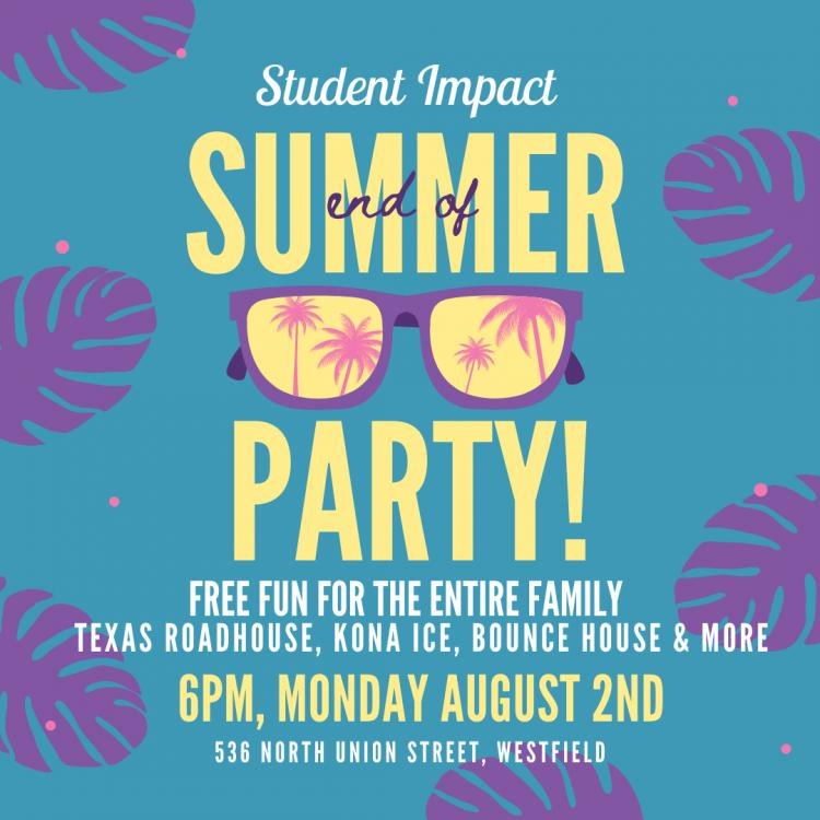 Summer Party at Student Impact