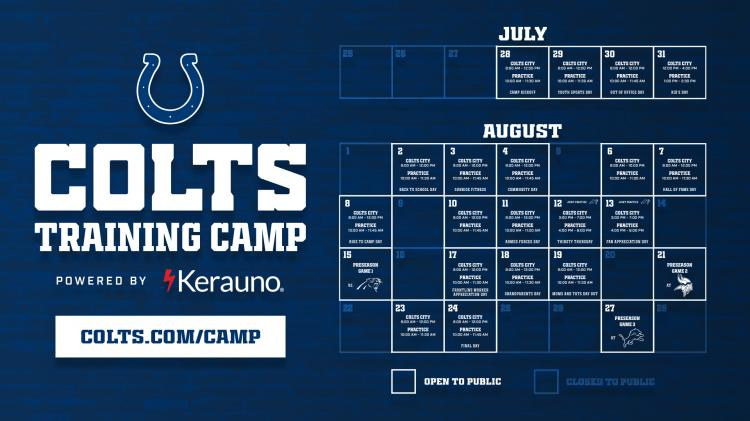 Colts Training Camp at Grand Park - FREE TICKETS REQUIRED