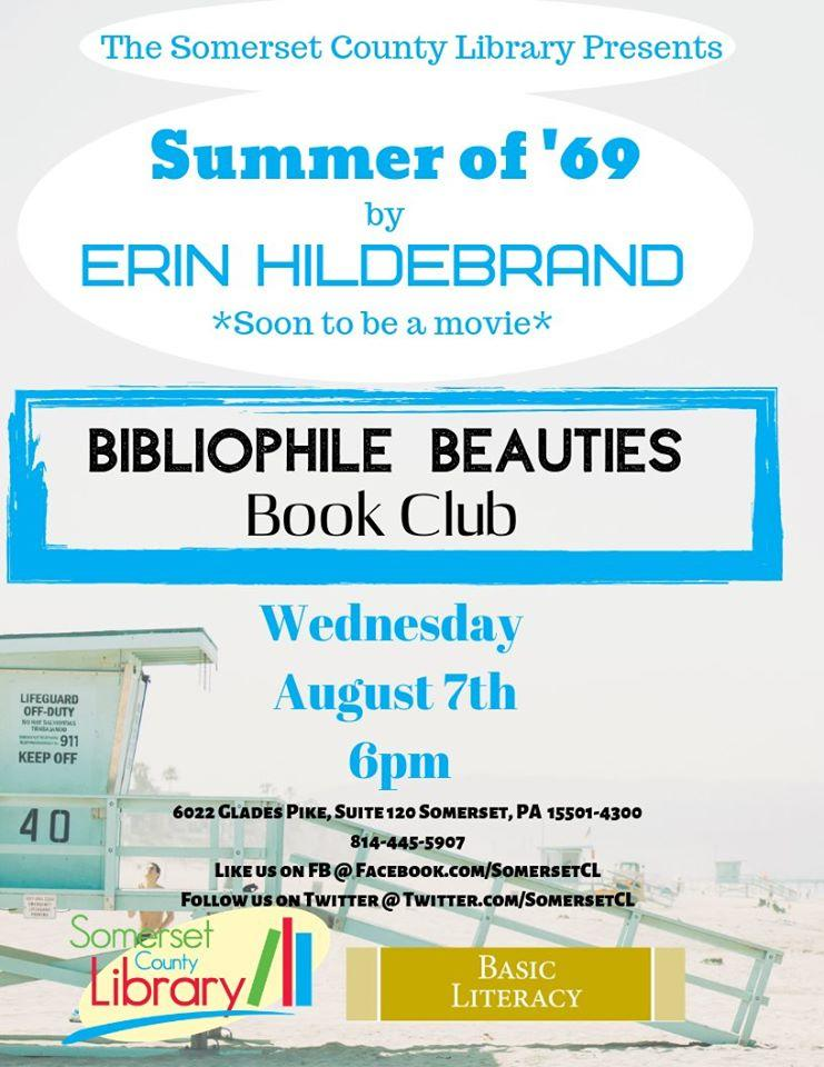 Bibliophile Beauties Book Club, 1st Wednesdays | Somerset County Library