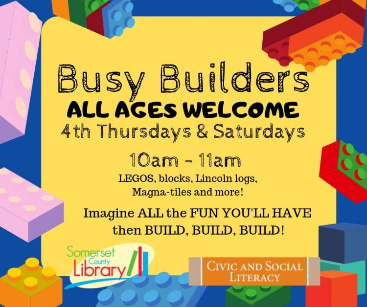 Busy Builders | Somerset County Library