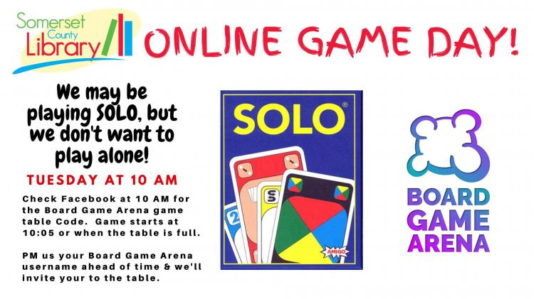 SOLO Online Game Day