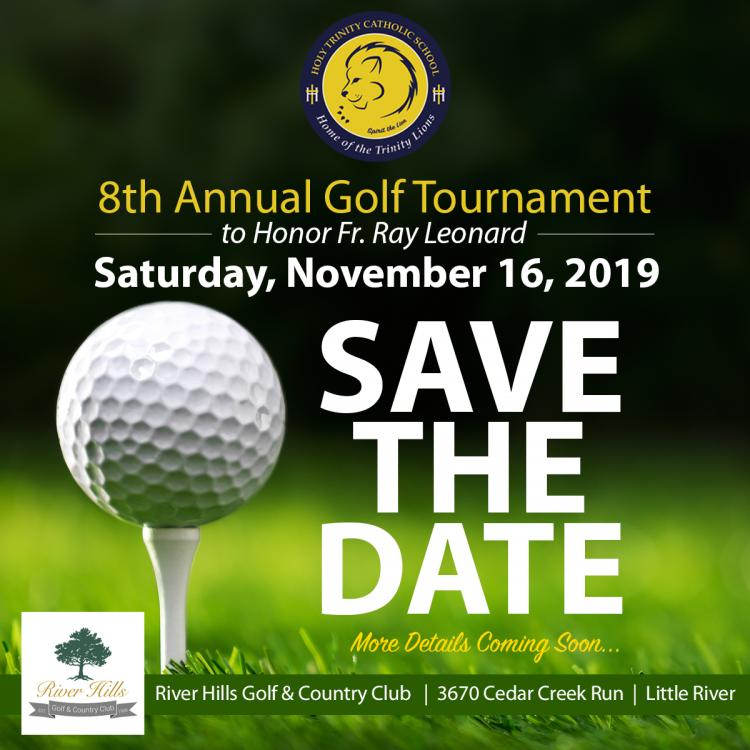 Golfers & Sponsors Needed for 8th Ann. Holy Trinity Golf Tourn 11/16 River Hills