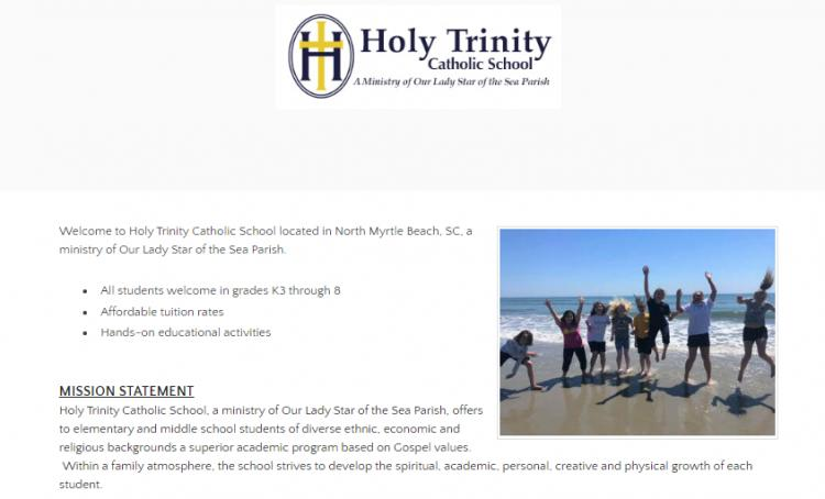 Make Plans to Attend Holy Trinity Cath. School Open House in NMB  1/28 9-11a