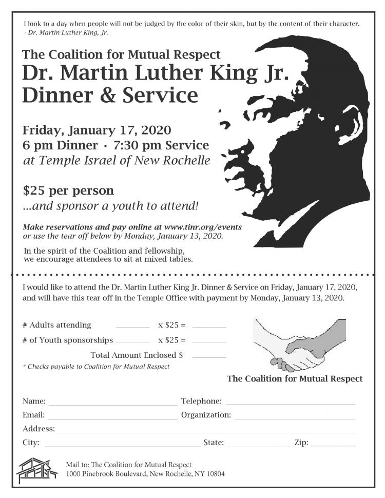 The Coalition for Mutual Respect Dr.Martin Luther King Jr. Dinner & service
