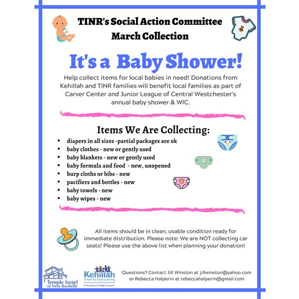 TINR'S Social Action Committee March Collection