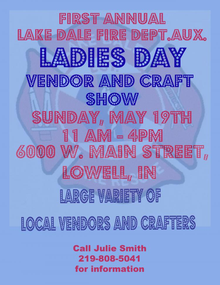 Lake Dale Fire Dept. Auxiliary Ladies Day Vendor and Craft Show