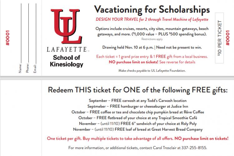 'Vacation for 2 from Travel Machine' Scholarship Fundraiser