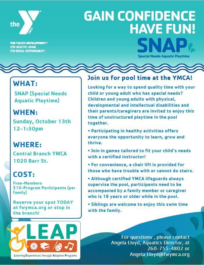 SNAP (Special Needs Aquatic Playtime)