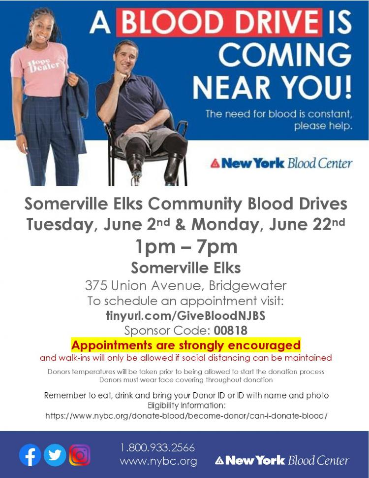 Bridgewater Blood Drive - Urgent Need! Appointment Required