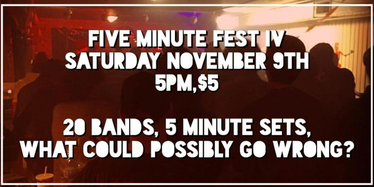 20 Bands, 5 Minute Sets, What Could Possibly Go Wrong?