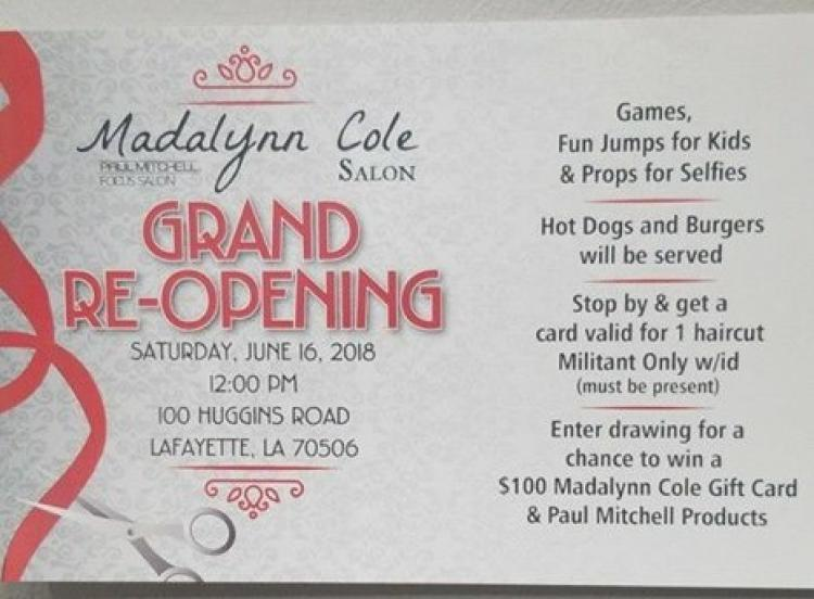 Madalynn Cole Salon & Spa Grand Re-Opening