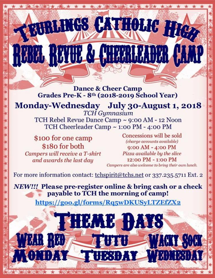 TCH Rebel Revue and Cheerleader Camp