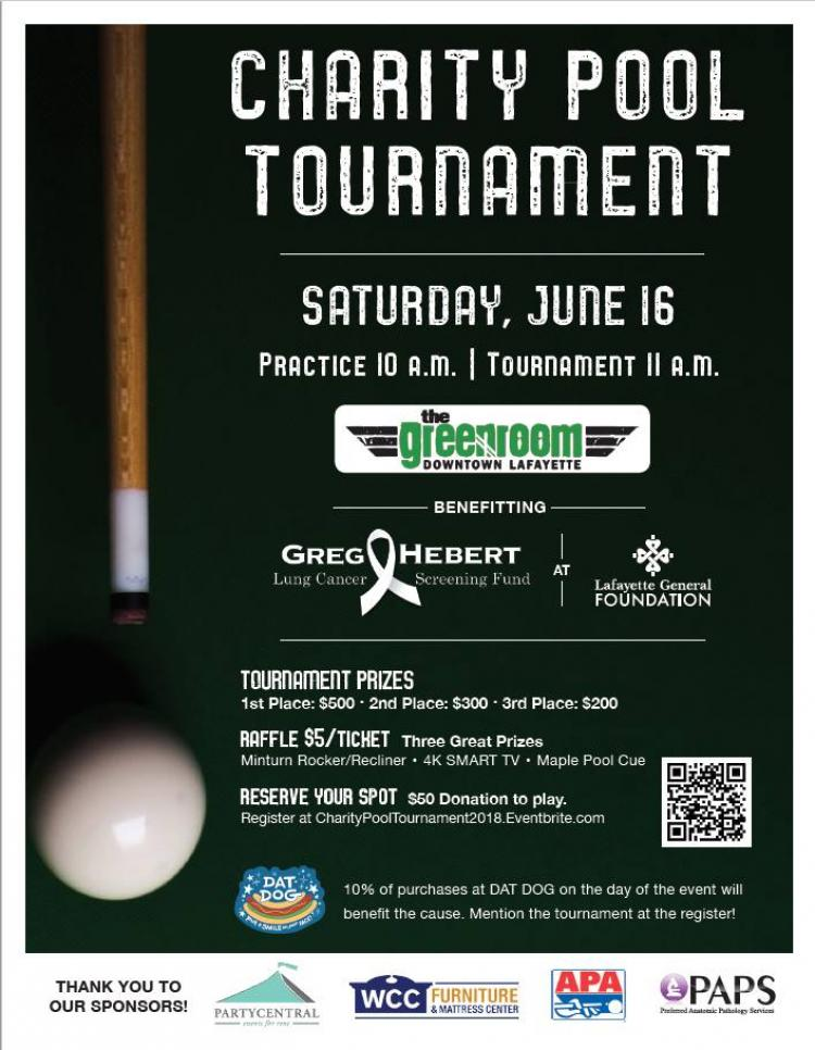 Charity Pool Tournament for Cancer