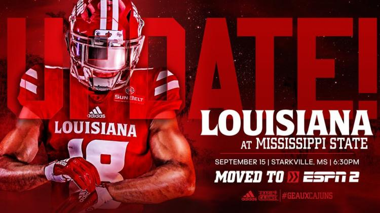 Louisiana Football @ Mississippi State 6:30pm