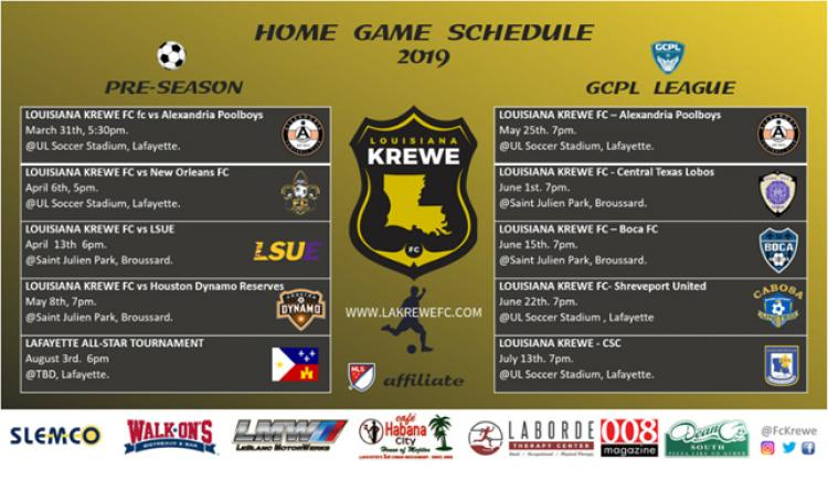 Louisiana Krewe FC vs CSC (League Game)