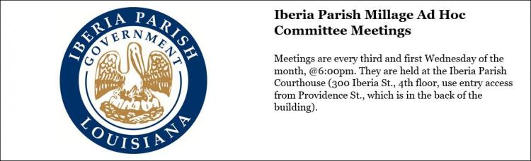 Iberia Parish Millage Ad Hoc Committee Meetings