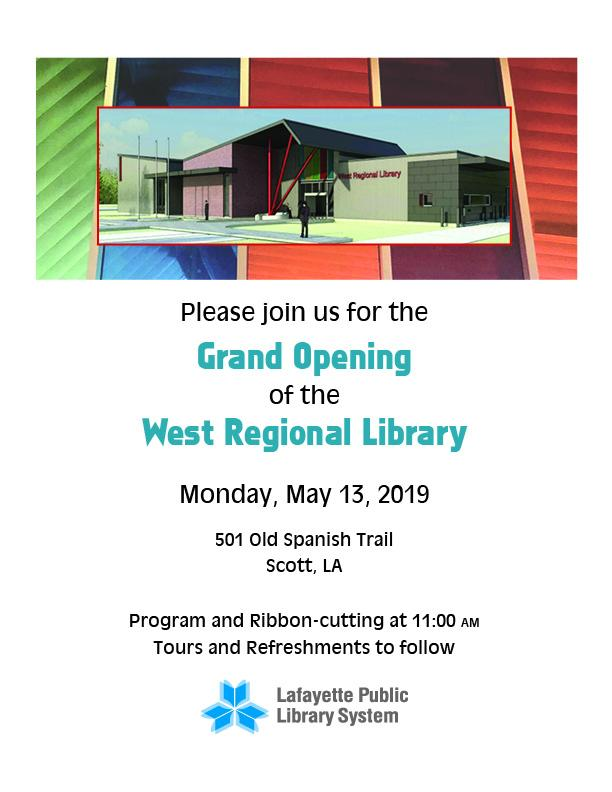 Grand Opening of the West Regional Library