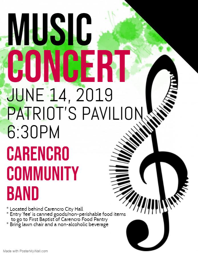 Music Concert featuring the Carencro Community Band