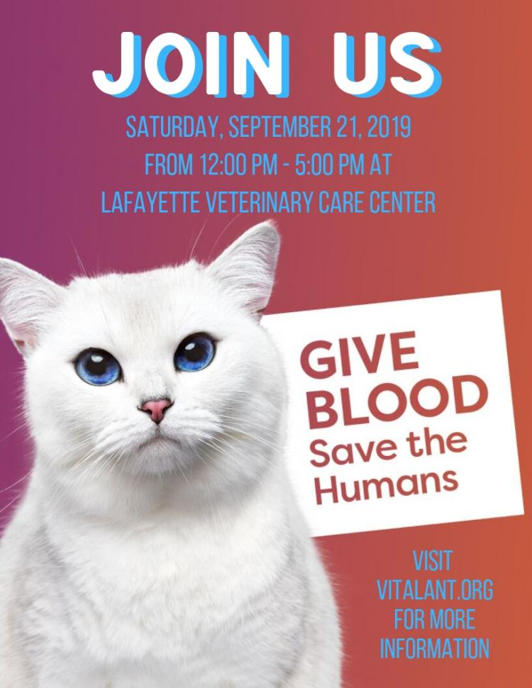 Give Blood to Save the Humans