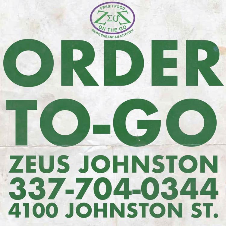 20% OFF Pickup Orders at Zeus Johnston
