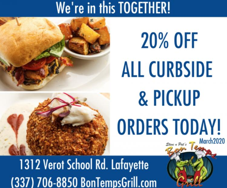 Get it To-Go or get Delivery from Bon Temps Grill