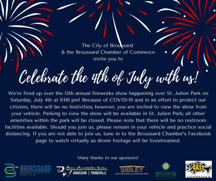 Broussard's 4th of July Fireworks Show