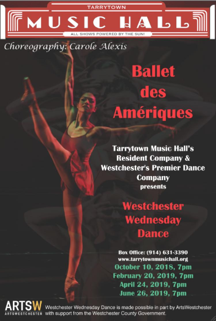 Ballet des Ameriques' West Chester Wednesday at Tarrytown Music Hall