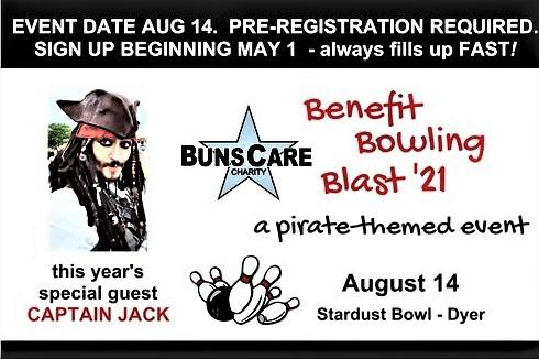 Enrollment is open - Benefit Bowling Blast '21 featuring The Captain