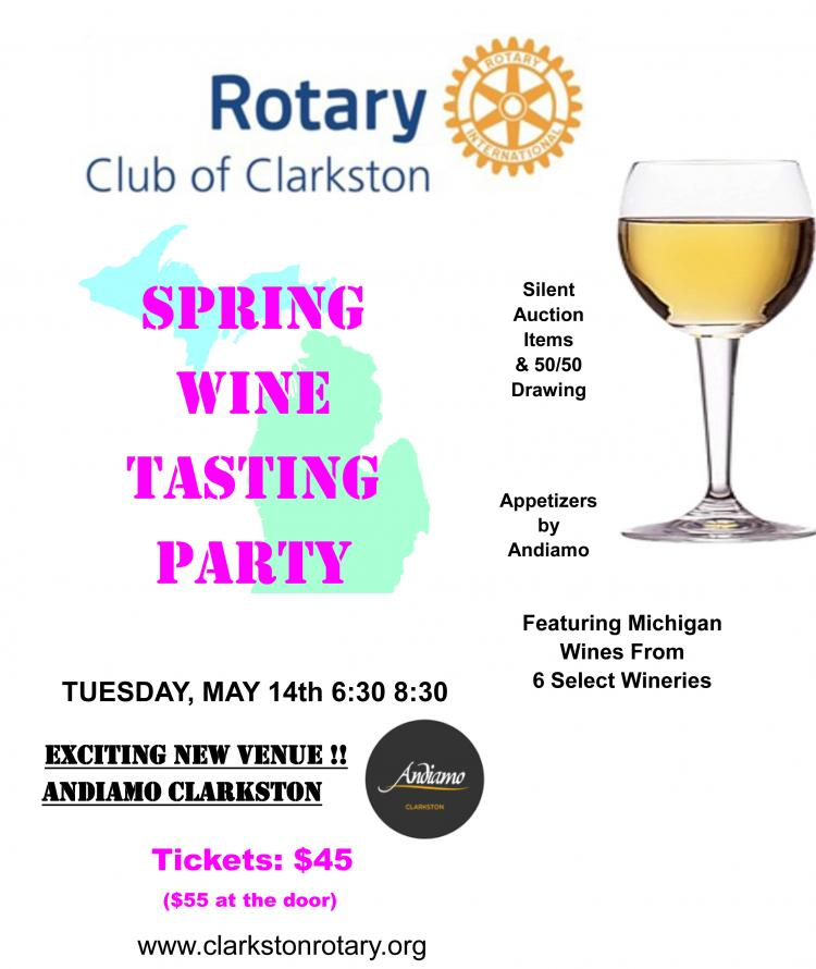 Clarkston Rotary's Spring Michigan Wine Tasting Event