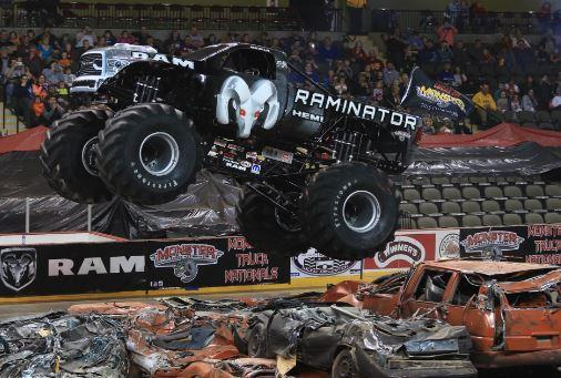 Colby Chrysler Center Lets Monster Truck on the loose in Colby, WI!