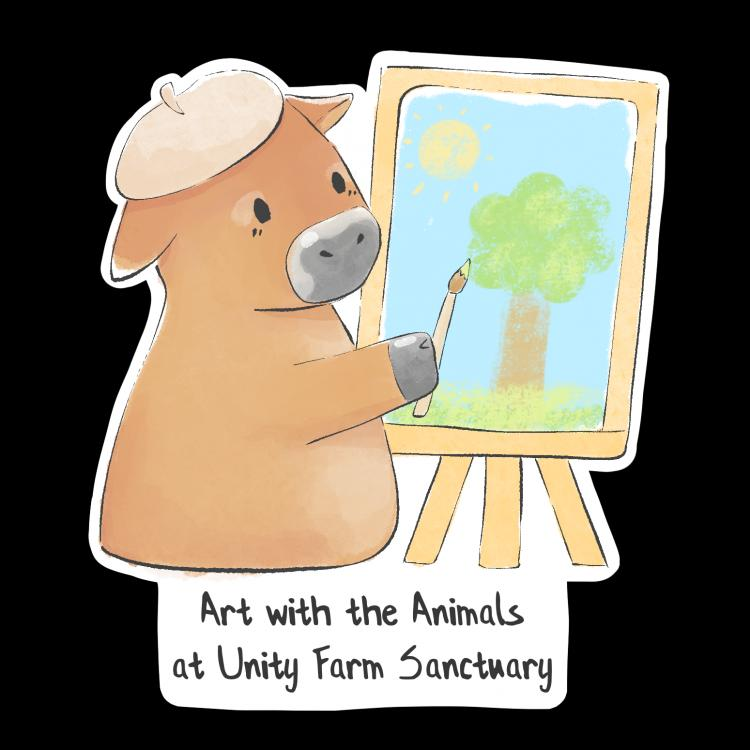 Art with the Animals at Unity Farm Sanctuary (Adults/Teens Ages 13+)