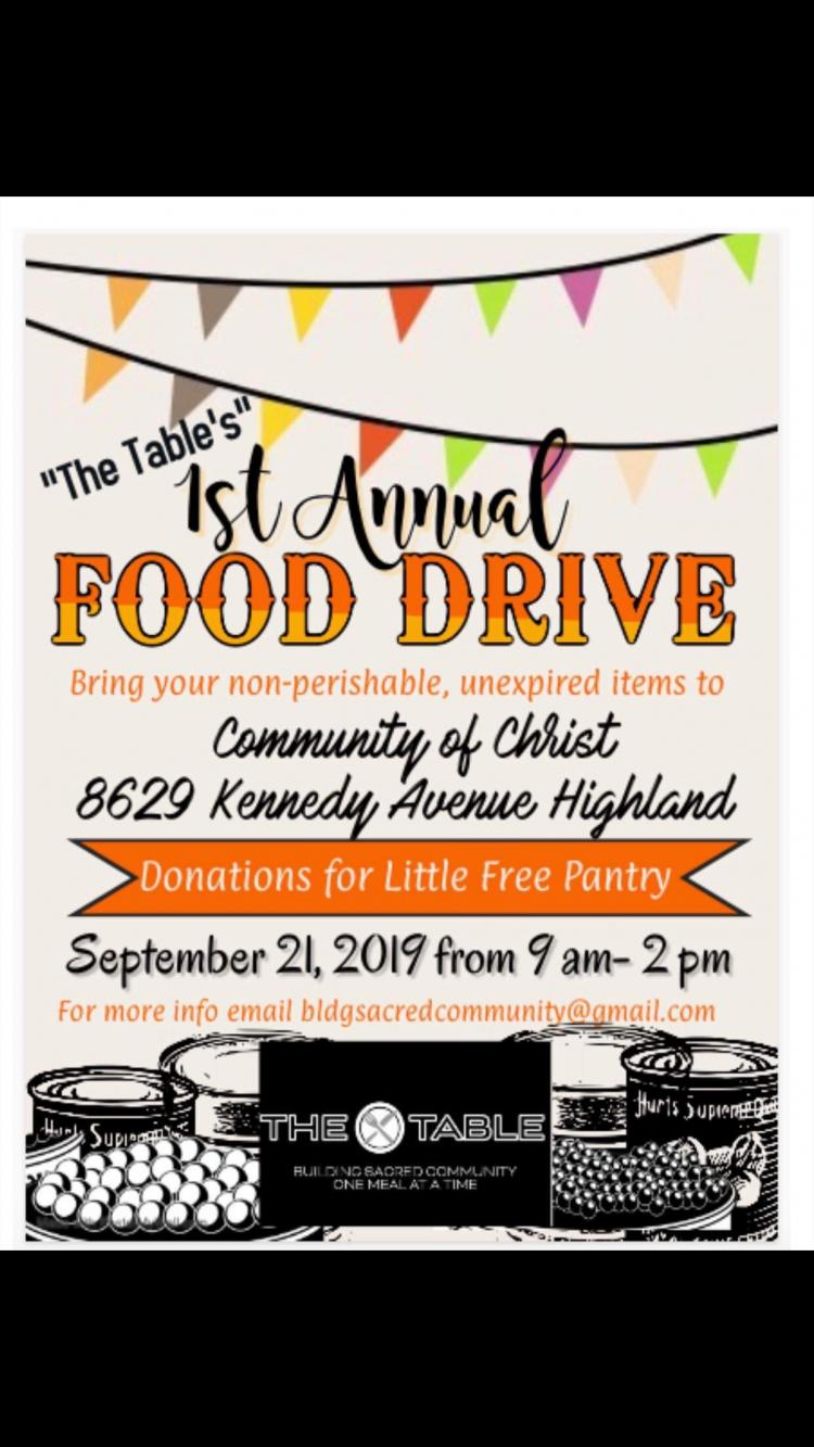 """The Table's"" 1st Annual Food Drive"