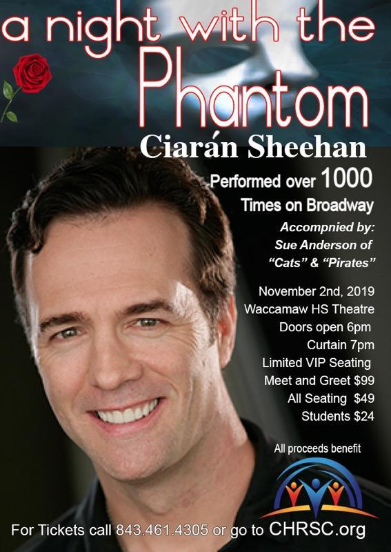 Tickets on Sale for A Night with the Phantom on Nov. 2nd