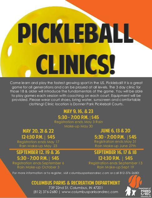 Adult Beginner Pickleball Clinic