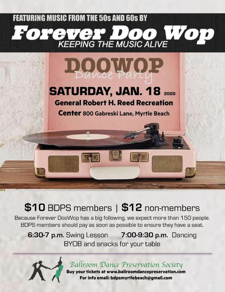 Dance to music from the 50's & 60's with Forever DooWop