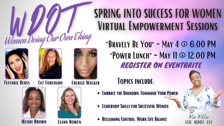 SPRING INTO SUCCESS FOR WOMEN:  Power Lunch & Talk!