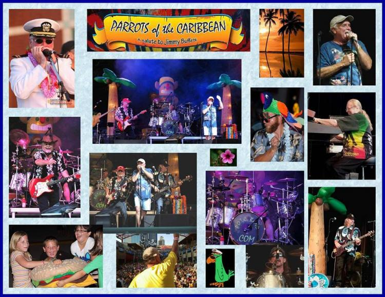 6-28 FREE Tropical Party ~ Massillon OH  w/ PARROTS OF THE CARIBBEAN!
