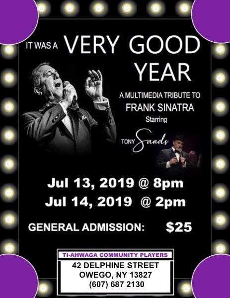 """It Was a Very Good Year"" ~a Musical Tribute to Frank Sinatra starring Tony"
