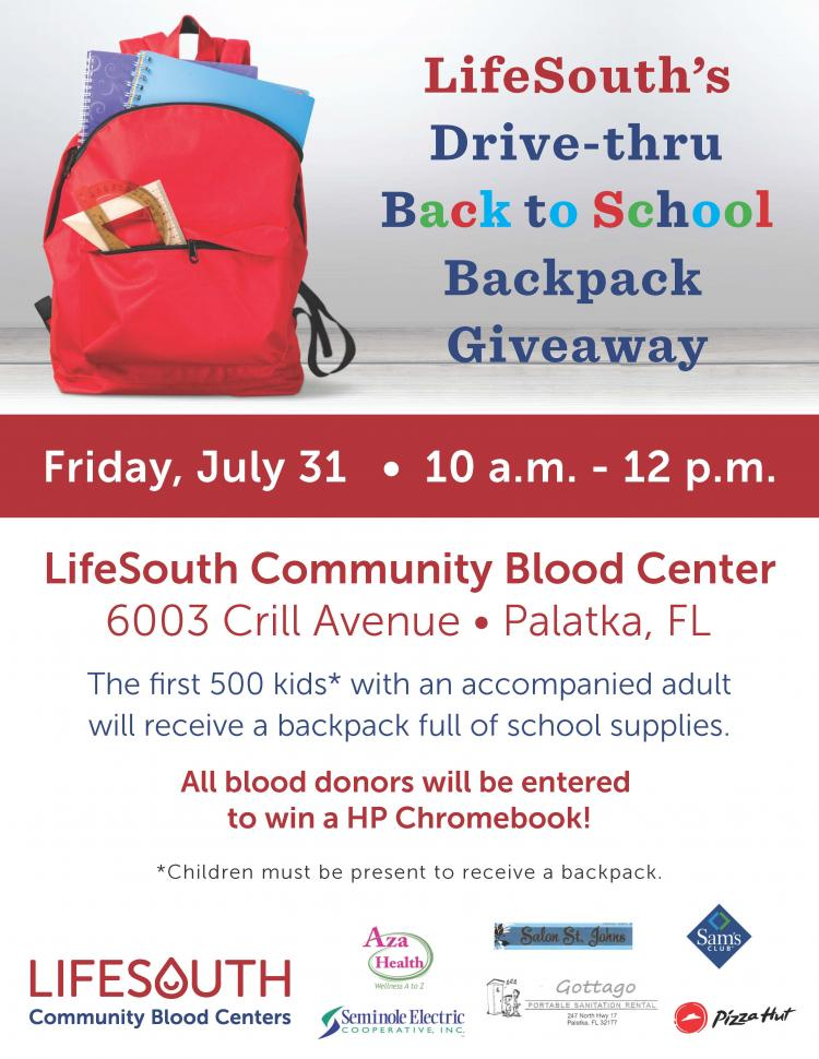 LifeSouth's Drive-thru Backpack Giveaway