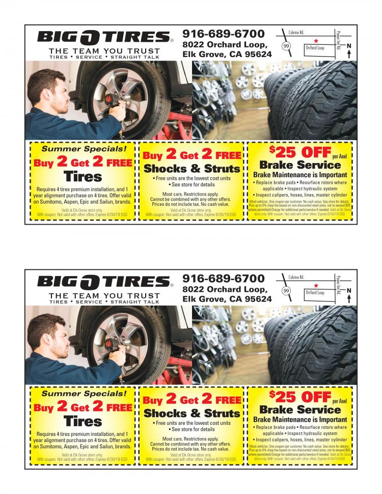 Tires!! Buy 2 Get 2 Free!! Big O Tires Elk Grove