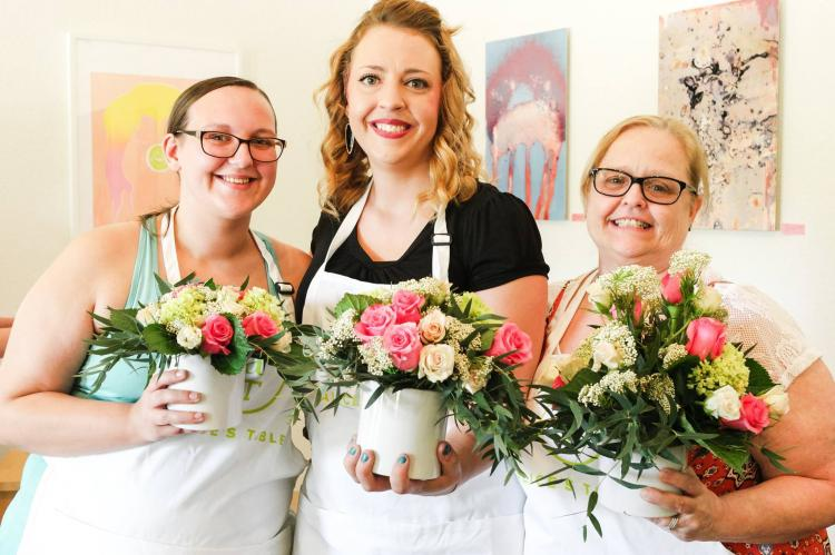 Alice's Table - Mother's Day Blooms at Porches Cafe
