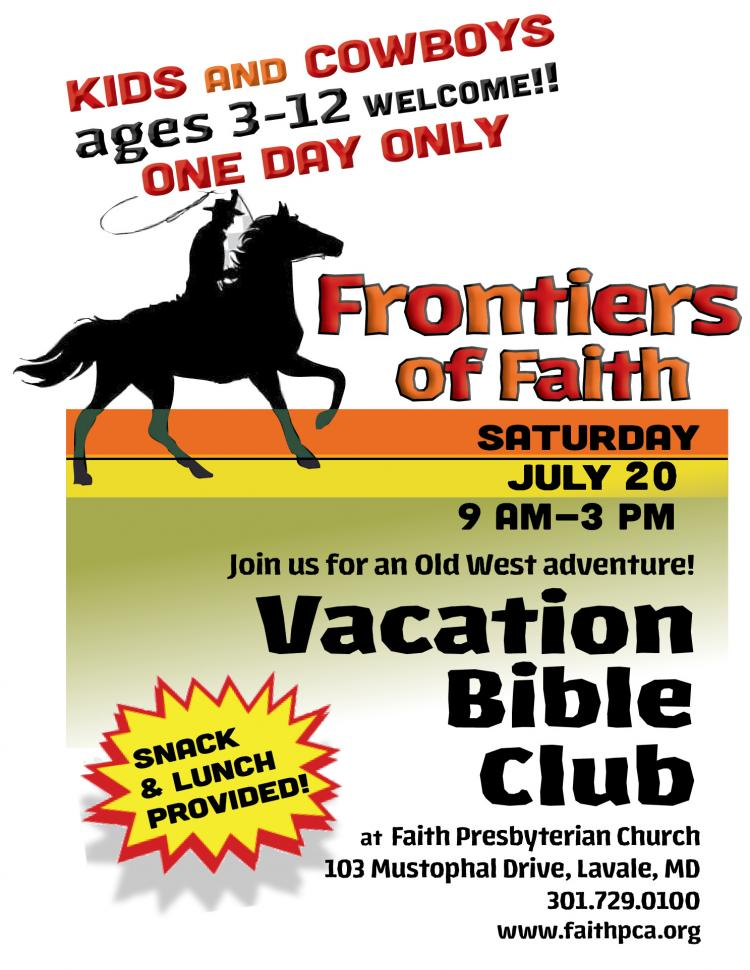 Vacation Bible Club: Frontiers of Faith