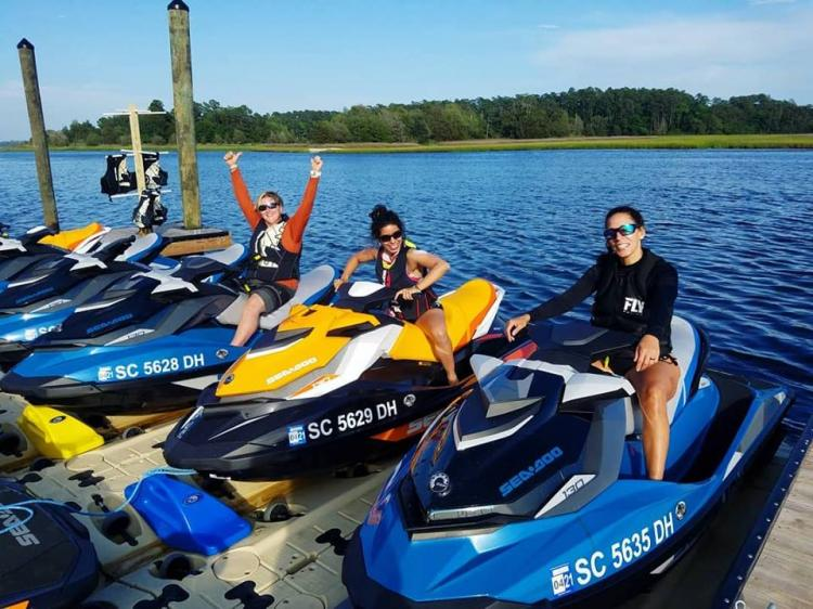 Ribbon Cutting & Chamber Connections at Little River Watersports