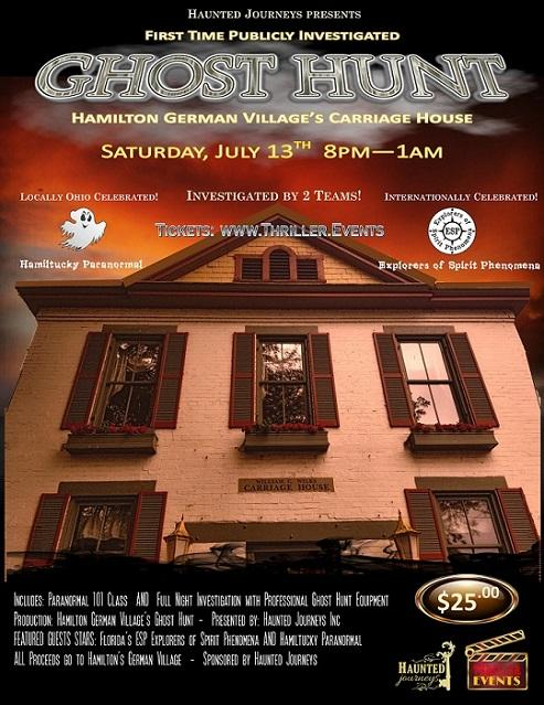 1st Ever Ghost Hunt of German Village's Carriage House