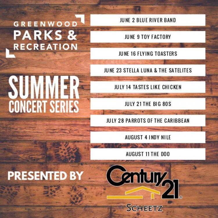 Greenwood FREE Outdoor Concert @ Amphitheater