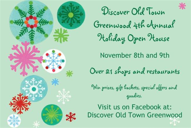 Discover Old Town Greenwood Holiday Open House
