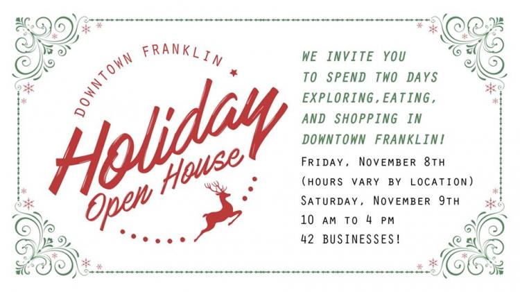 Downtown Franklin Holiday Open House